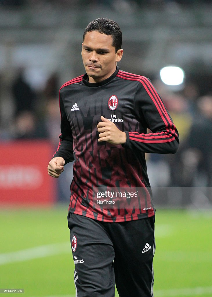 Carlos Bacca before the serie A match between AC Milan and Juventus FC at Giuseppe Meazza stadium on april 9 2016 in Milano italy