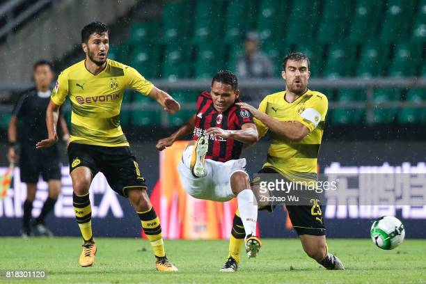 Carlos Bacca of AC Milan controls the ball during the 2017 International Champions Cup football match between AC Milan and Borussia Dortmund at...