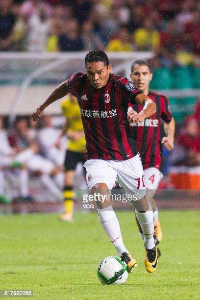 Carlos Bacca of AC Milan drives the ball during the 2017 International Champions Cup China between AC Milan and Borussia Dortmund at University Town...