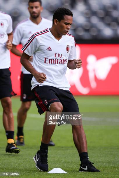 Carlos Bacca of AC Milan training at Universiade Sports Centre Stadium on July 21 2017 in Shenzhen China