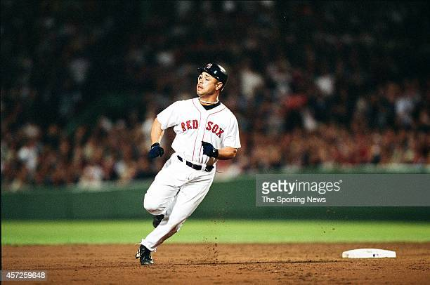 Carlos Baerga of the Boston Red Sox runs against the New York Yankees at Fenway Park on May 26 2002 in Boston Massachusetts