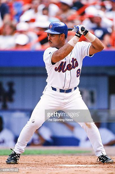 Carlos Baerga of the New York Mets during the game against the Florida Marlins on June 21 1998 at Shea Stadium in Flushing New York