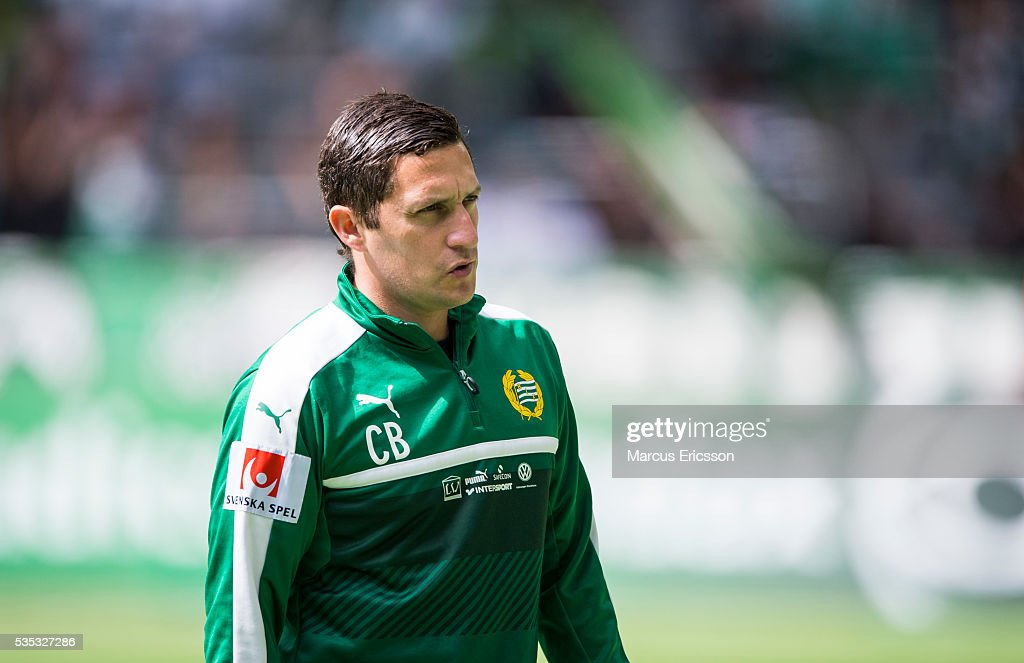 Carlos Banda, assistant coach Hammarby IF during the Allsvenskan match between Hammarby IF and Gefle IF at Tele2 Arena on May 29, 2016 in Stockholm, Sweden.