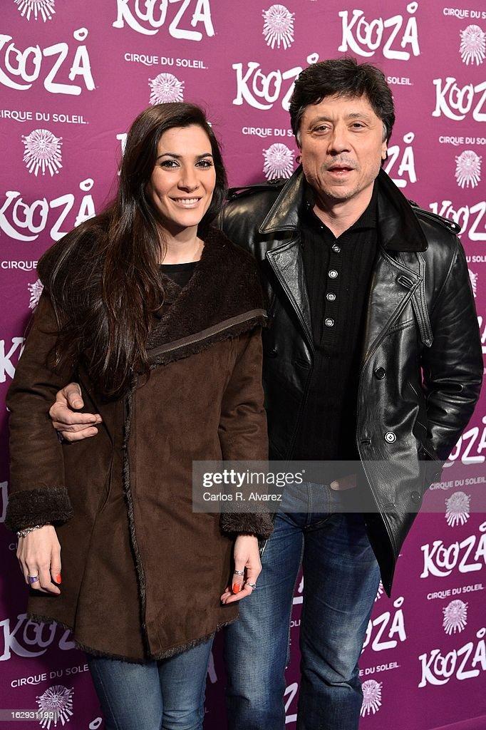 Carlos Bardem (R) and Cecilia Gessa attend 'Cirque Du Soleil' Kooza 2013 premiere on March 1, 2013 in Madrid, Spain.
