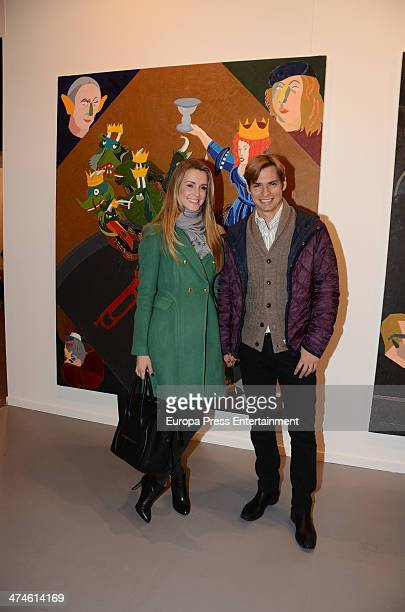 Carlos Baute and Astrid Klisans are seen at ARCO Contemporary Art Fair at Ifema on February 21 2014 in Madrid Spain