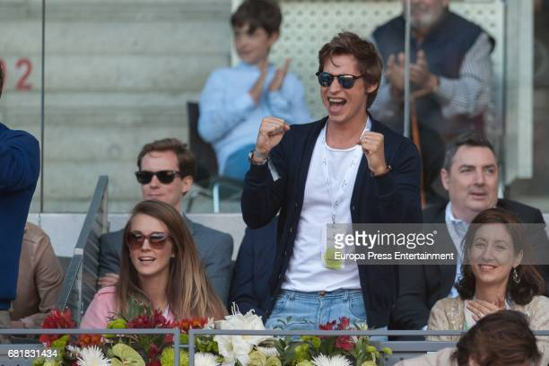 Carlos Baute and Astrid Klisans attend Mutua Madrid Open tennis at La Caja Magica on May 10 2017 in Madrid Spain
