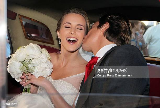 Carlos Baute and Astrid Klisans get married on June 29 2012 in San Lorenzo de El Escoria Spain