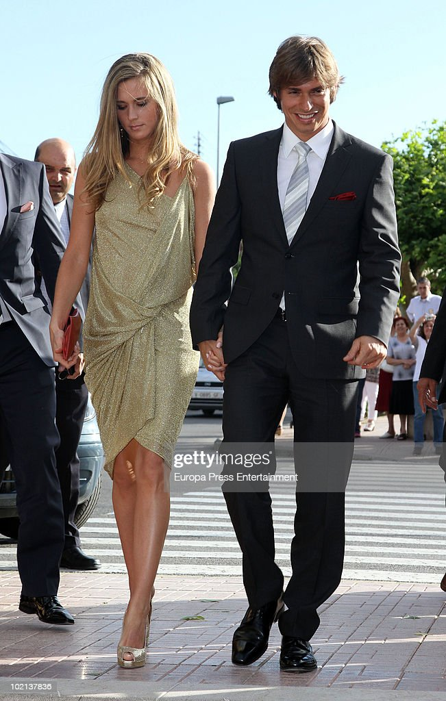 <a gi-track='captionPersonalityLinkClicked' href=/galleries/search?phrase=Carlos+Baute&family=editorial&specificpeople=2089918 ng-click='$event.stopPropagation()'>Carlos Baute</a> and his girlfriend Astrid Klisans attend the wedding of Manuel Colonques, son of the president of Porcelanosa company, and Cristina Babiloni on June 11, 2010 in Castellon de la Plana, Spain.