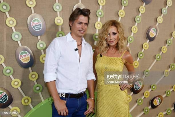 Carlos Baute and Marta Sanchez attend 'Jardin Queramonos' by Zespri on June 13 2017 in Madrid Spain