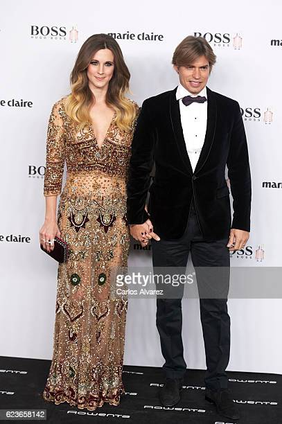 Carlos Baute and wife Astrid Klisans attend 'Marie Claire Prix De La Moda' Awards 2016 at Florida Park Club on November 16 2016 in Madrid Spain