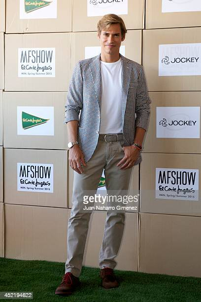 Carlos Baute attends the Jockey show during MFSHOW 2014 day 2 at COAM on July 15 2014 in Madrid Spain
