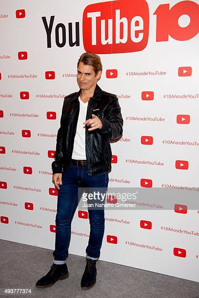 Carlos Baute attends YouTube 10th Anniversary Gala at Giner de los Rios Foundation on October 22 2015 in Madrid Spain