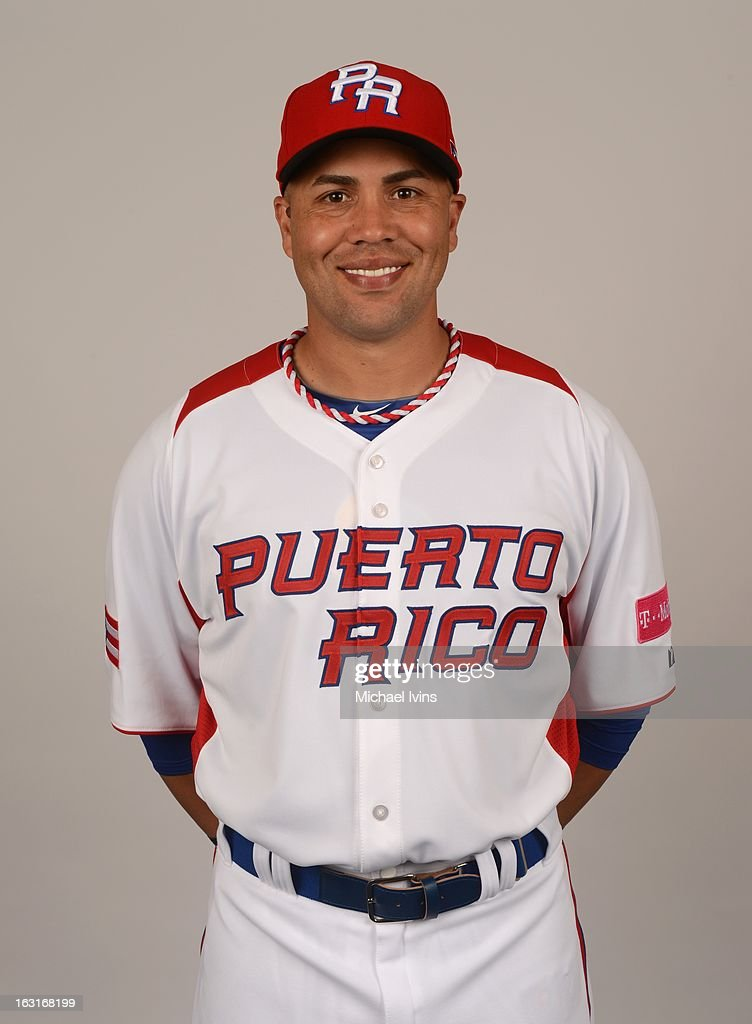 <a gi-track='captionPersonalityLinkClicked' href=/galleries/search?phrase=Carlos+Beltran&family=editorial&specificpeople=167108 ng-click='$event.stopPropagation()'>Carlos Beltran</a> #15 of Team Puerto Rico poses for a headshot for the 2013 World Baseball Classic at the City of Palms Baseball Complex on Monday, March 4, 2013 in Fort Myers, Florida.