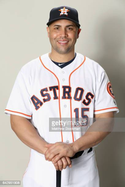 Carlos Beltran of the Houston Astros poses for a portrait during the Houston Astros Photo Day at The Ballpark of the Palm Beaches on February 19 2017...
