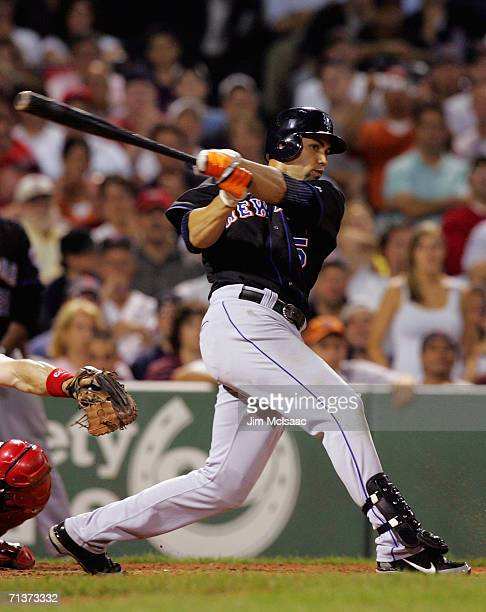 Carlos Beltran of the New York Mets bats against the Boston Red Sox on June 28 2006 at Fenway Park in Boston Massachusetts