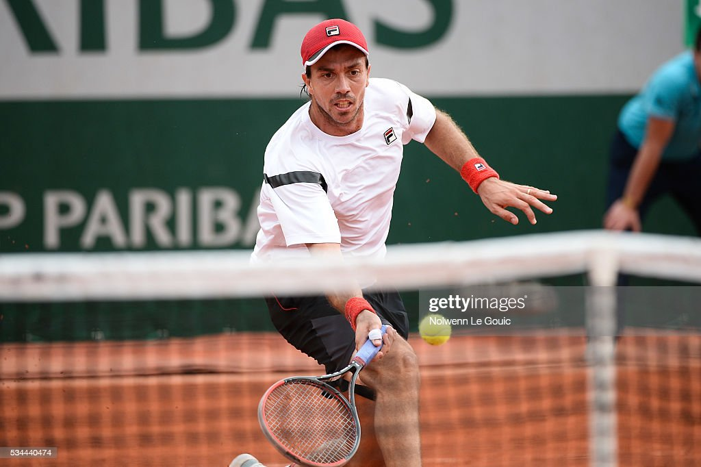 Carlos Berlocq during the Men's Singles third round on day five of the French Open 2016 at Roland Garros on May 26, 2016 in Paris, France.