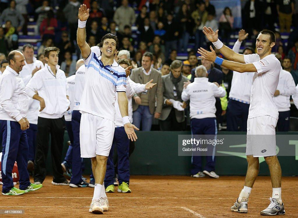 Argentina v Serbia - Davis Cup 2015 Day 2