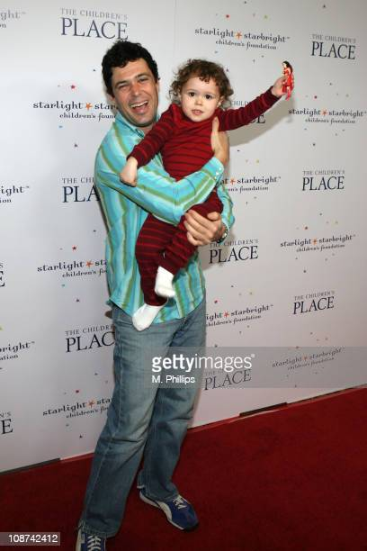 Carlos Bernard and daughter Natalie during The Children's Place Pajama Party to Benefit the AZ CA NV Chapter of Starlight Starbright Children's...