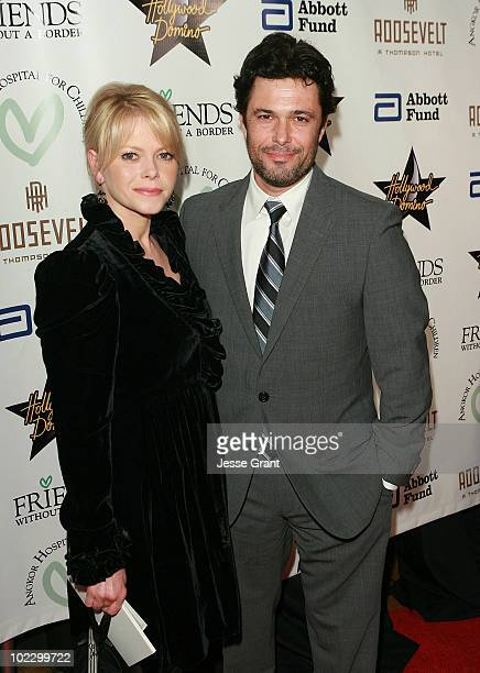 Carlos Bernard and guest arrive at the Friends Without Borders First Annual Los Angeles Gala at The Roosevelt Hotel on December 10 2009 in Hollywood...