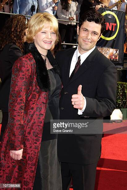 Carlos Bernard and guest during 9th Annual Screen Actors Guild Awards Arrivals at Shrine Exposition Center in Los Angeles California United States