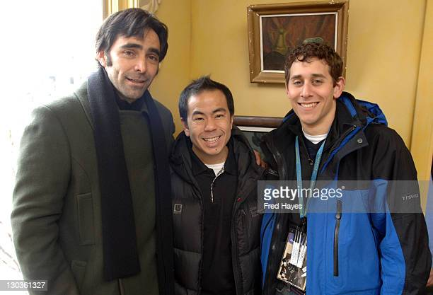 Carlos Bolado Weiman Seid and Brian Ascher during 2006 Sundance Film Festival SAG Indie Brunch 2 at Cafe Terigo in Park City Utah United States