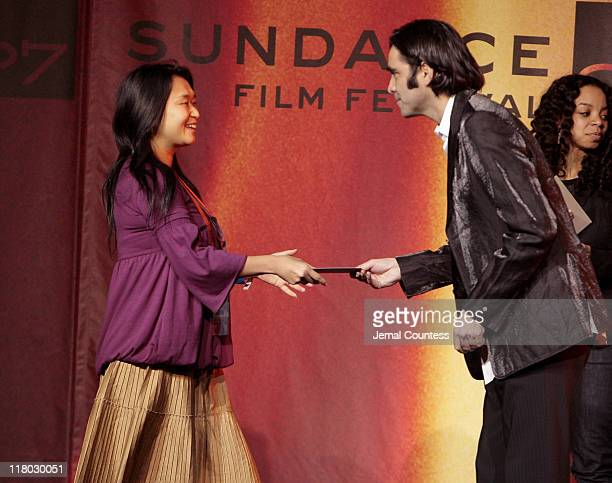 Carlos Bolado with Tomoko Kana winner of the Sundance/NHK International Filmmakers Award