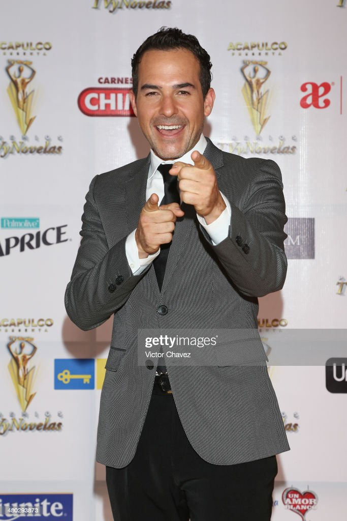Carlos Calderon attends the Premios Tv y Novelas 2014 at Televisa Santa Fe on March 23, 2014 in Mexico City, Mexico.