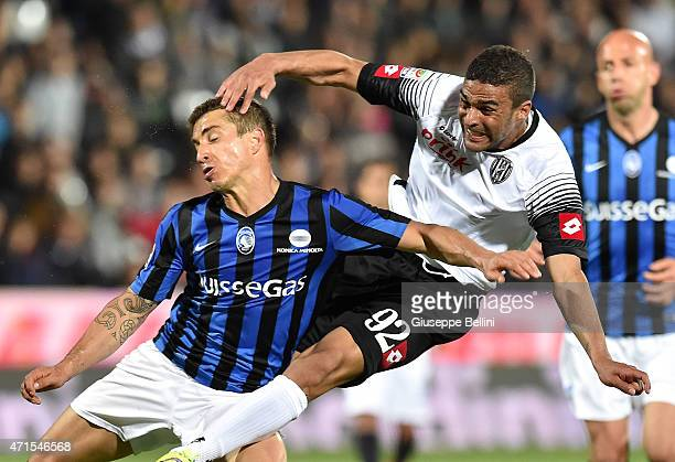 Carlos Carmona of Atalanta and Gregoire Defrel of Cesena in action during the Serie A match between AC Cesena and Atalanta BC at Dino Manuzzi Stadium...