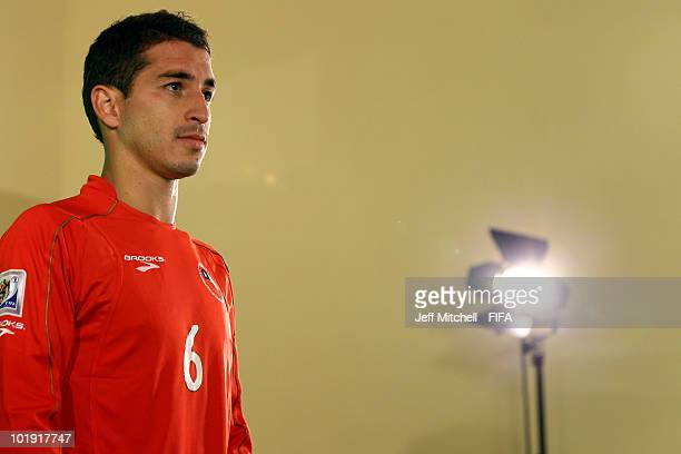 Carlos Carmona of Chile poses during the official FIFA World Cup 2010 portrait session on June 8 2010 in Nelspruit South Africa