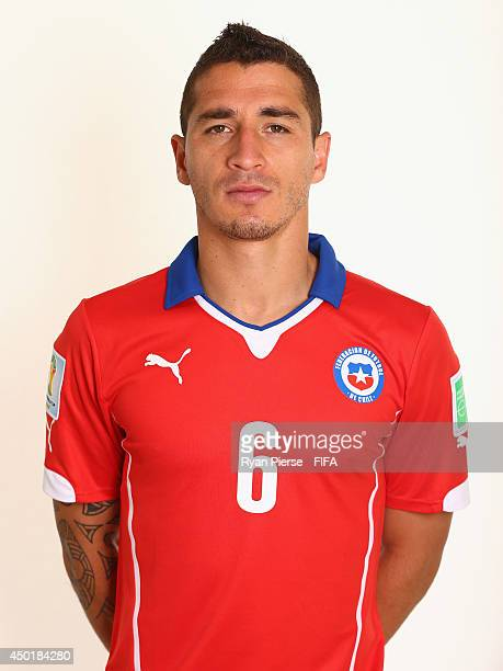 Carlos Carmona of Chile poses during the official FIFA World Cup 2014 portrait session on June 6 2014 in Belo Horizonte Brazil