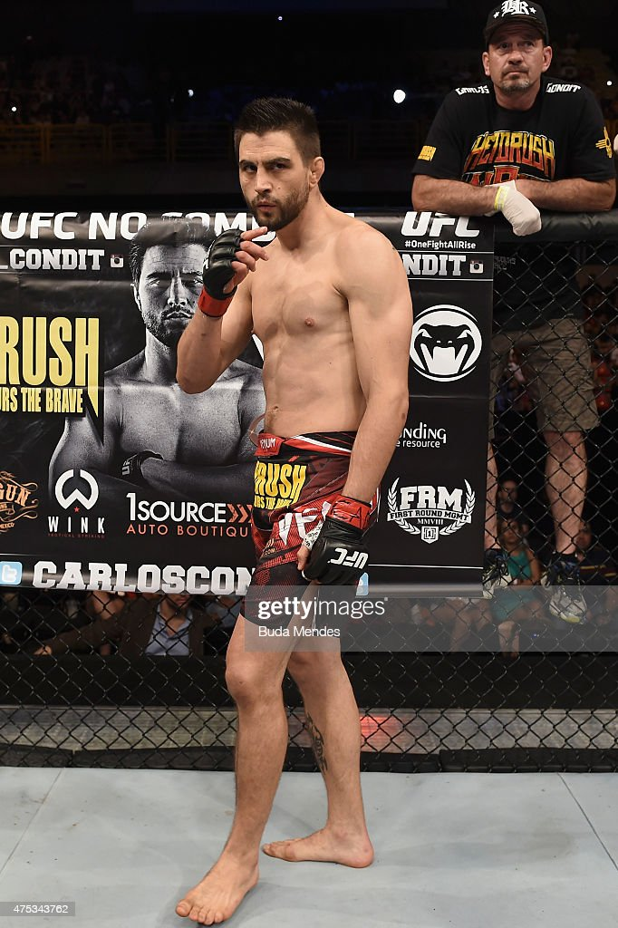 Carlos Condit of the United States looks on prior to his welterweight UFC bout againstThiago Alves of Brazil during the UFC Fight Night event at...