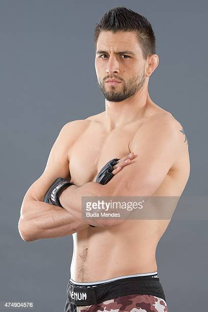 Carlos Condit poses for a portrait during a UFC photo session ahead of the UFC Fight Night event on May 27 2015 in Goiania Brazil