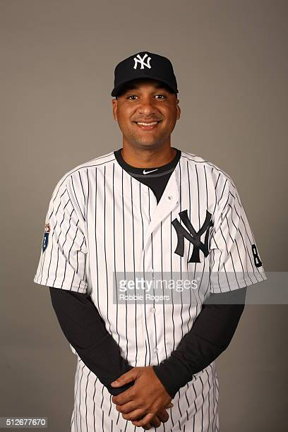 Carlos Corporan of the New York Yankees poses during Photo Day on Saturday February 27 2016 at George M Steinbrenner Field in Tampa Florida