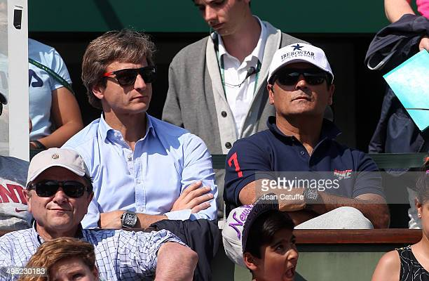 Carlos Costa and Toni Nadal manager and coach of Rafael Nadal attend Day 7 of the French Open 2014 held at RolandGarros stadium on May 31 2014 in...