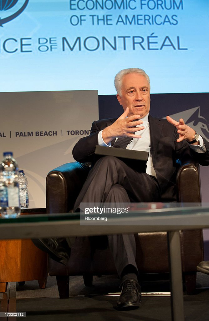 Carlos Da Silva Costa, governor of the Bank of Portugal, speaks during the International Economic Forum Of The Americas' Conference Of Montreal in Montreal, Quebec, Canada, on Monday, June 10, 2013. The Conference of Montreal brings together Heads of State, the private sector, international organizations and civil society to discuss major issues concerning economic globalization, focusing on the relations between the Americas and other continents. Photographer: David Vilder/Bloomberg via Getty Images