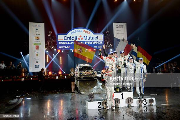 Carlos Del Barrio of Spain and Daniel Sordo of Spain Julien Ingrassia of France and Sebastien Ogier of France Mikka Anttila of Finland and Jari Matti...