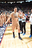 Carlos Delfino of Argentina is introduced before the game against the USA Basketball Men's National Team on July 22 2016 at the TMobile Arena in Las...