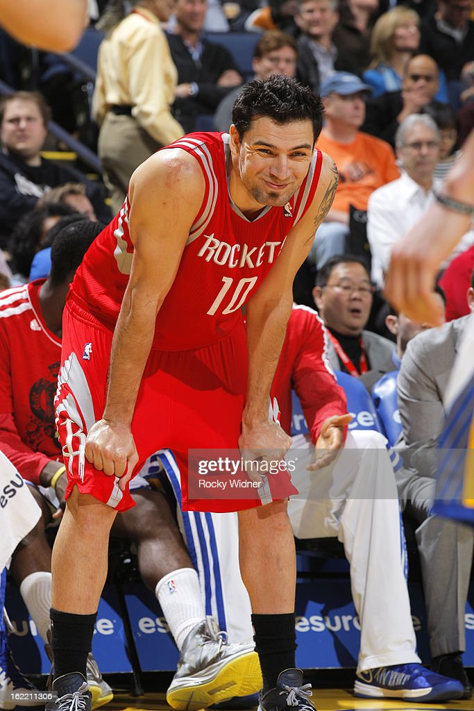 <a gi-track='captionPersonalityLinkClicked' href=/galleries/search?phrase=Carlos+Delfino&family=editorial&specificpeople=206625 ng-click='$event.stopPropagation()'>Carlos Delfino</a> #10 of the Houston Rockets in a game against the Golden State Warriors on February 12, 2013 at Oracle Arena in Oakland, California.