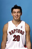 Carlos Delfino of the Toronto Raptors poses for a portrait during a NBA media day at the Air Canada Centre on October 16 2007 in Toronto Ontario...