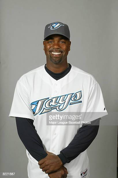 Carlos Delgado of the Toronto Blue Jays on March 1 2004 in Dunedin Florida