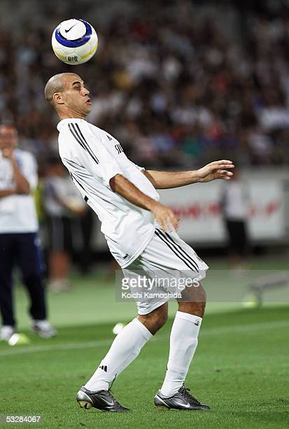Carlos Diogo in action during a friendly game between Real Madrid and Tokyo Verdy 1969 on July 25 2005 in Tokyo Japan The Spanish La Liga team are on...