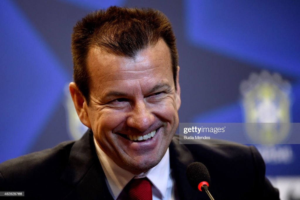 Carlos Dunga is introduced as the new coach of the Brazilian national football team during a press conference at the Brazilian Football Confederation...