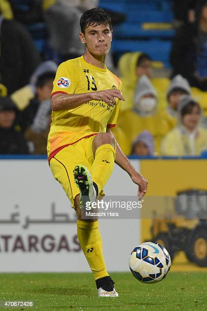 Carlos Eduardo Bendi of Kashiwa Reysol in action during the AFC Champions League Group E match between Kashiwa Reysol and Jeonbuk Hyundai Motors at...