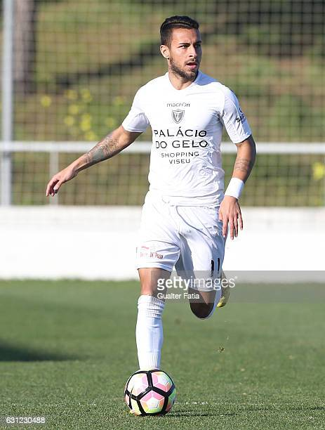 Carlos Eduardo of AC Viseu in action during the Segunda Liga match between CD Cova da Piedade and AC Viseu at Estadio Municipal Jose Martins Vieira...