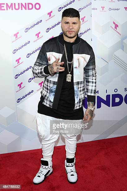 Carlos Efren Reyes Rosado aka Farruko attends Telemundo's 'Premios Tu Mundo Awards' 2015 at American Airlines Arena on August 20 2015 in Miami Florida
