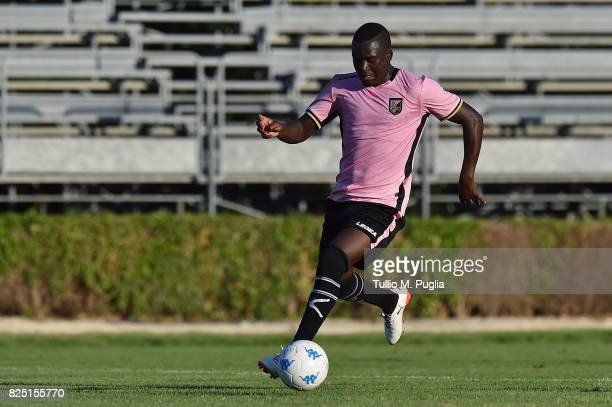Carlos Embalo of Palermo in action during a friendly match between US Citta' di Palermo and Monreale at Carmelo Onorato training center on July 30...