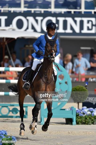 Carlos Enrique of Colombia riding Cuplandra during the Longines Grand Prix Athina Onassis Horse Show on June 3 2017 in St Tropez France