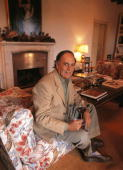 Carlos Falco marquis of Grinon in his country house in Toledo Falco sat down in an armchair with a glass of wine