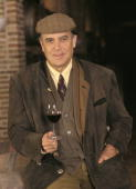 Carlos Falco marquis of Grinon in his property of Toledo With a glass of wine