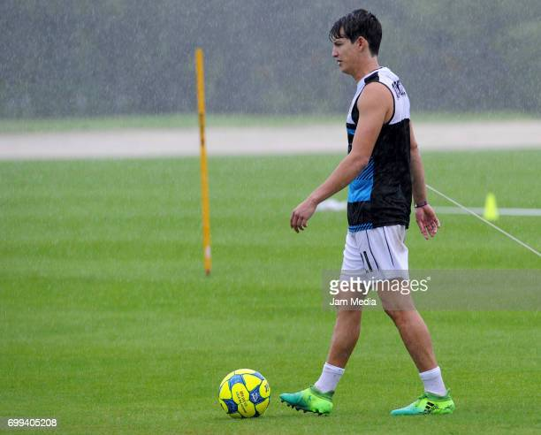 Carlos Fierro walks in the field during the Pre Season training for the Torneo Apertura 2017 Liga MX at Hotel Moon Palace on June 21 2017 in Cancun...
